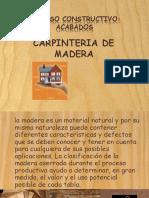 Presentacion carpinteria de madera