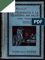 La Telegrafía y La Telefonía Sin Hilos