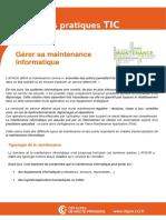 Fiche 14 - Informatique-Comment Gerer La Maintenance de Son Parc Informatique