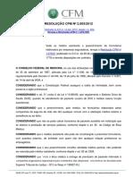 RESOLUÇÃO CFM 2003 _ 2012