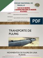 Trasporte de Pulpas y Radio Hidraulico-yupanqui Briceño,Edymar