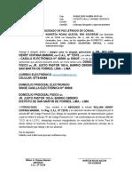 Apersonamiento - 6to Juzg de Paz Letrado de Comas - Cono Norte