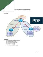 Redistribution EIGRP OSPF