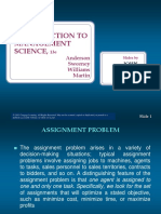 Assignment Problems (Week 8)