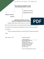 John Doe v Oberlin - Motion to Dismiss Complaint