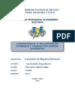 LABORATORIO DE MAQUINAS ELECTRICAS I    N° 4