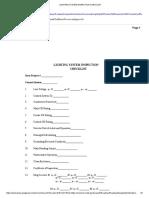 Lighting System Inspection Checklist