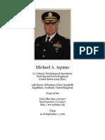 Michael Aquino Curriculum Vitae
