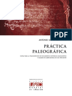 Práctica Paleográfica - Antonio González Antías