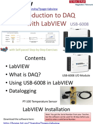 Introduction to DAQ With LabVIEW and USB-6008 - Overview