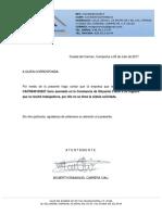 Carta de No Empleados