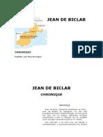 Jean de Biclar CHRONIQUE