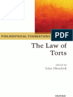 John Oberdiek Philosophical Foundations of the Law of Torts