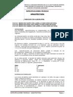 Especificaciones - Arquitectura Ok