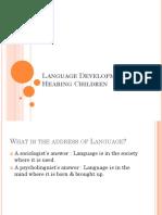 Language Development in Hearing Children