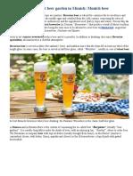 The Best Beer Garden in Munich Munich Beer