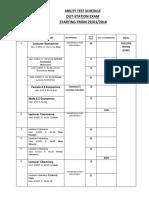 Ability Test Schedule Jan 2018 2