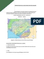 Parámetros Geomorfológicos de La Sub Cuenca Agua Del Milagro, ejemplo