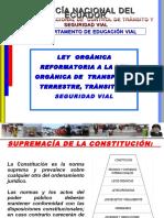 leyorganicadereformaalaleyorganicadetransporteterrestretransitoyseguridadvial-131210215700-phpapp02