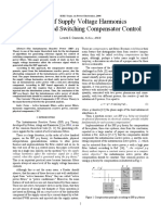 Effect of Supply Voltage Harmonics on IRP Based Switching Compensator Control