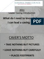 Caving Information 2011