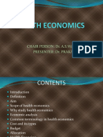 Scope of Health Economics