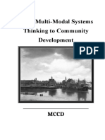 From Multi-Modal Systems Thinking to Community Development