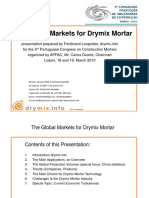 Global Markets for Dry Mix Mortar