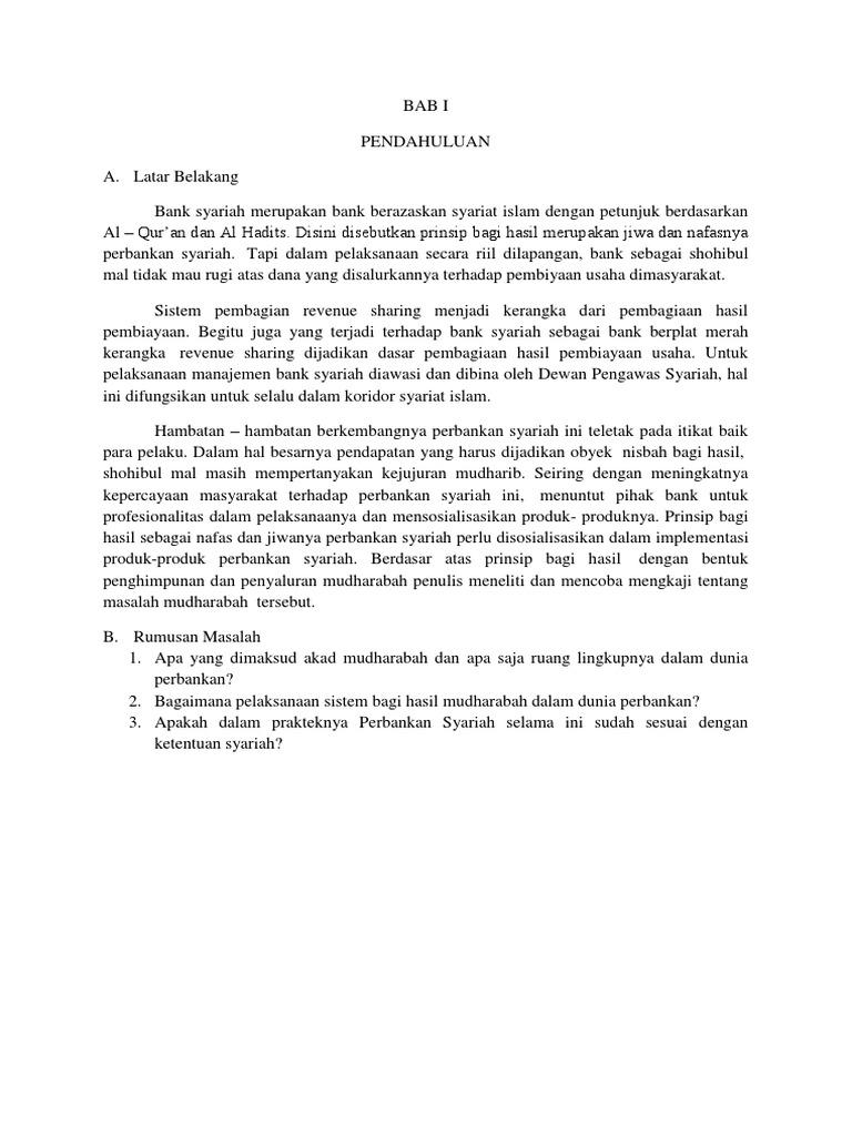 Kesimpulan Akuntansi Mudharabah