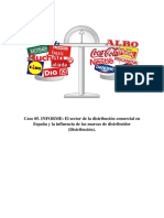 El Sector de La Distribución Comercial en España y La Influencia de Las Marcas de Distribuidor.