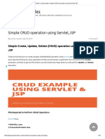 Simple Create,Update ,Delete (CRUD) Operation Using Servlet & JSP