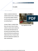 Basic Operation of a Lathe