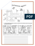 Circle the Differences Between the Picture a and B and Write Sentences Using There Was