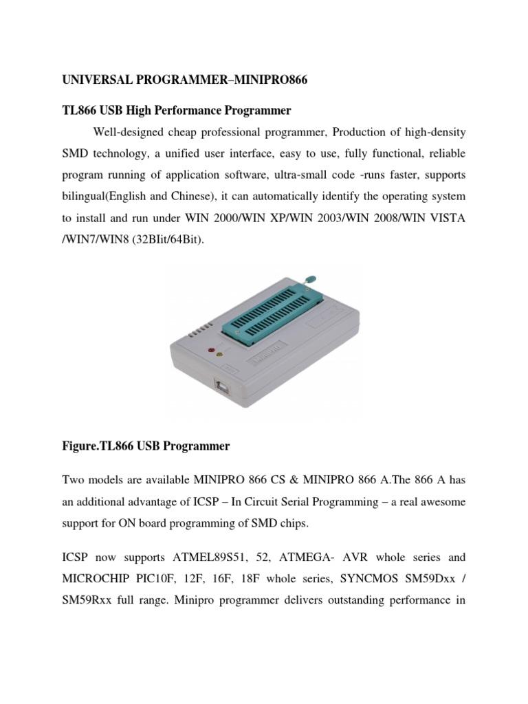 Mini Pro Universal Programmer   Installation (Computer Programs