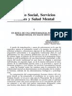 Trabajo Social, Servicios Sociales y Salud Mental