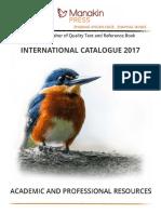 Manakin Press International Catalog