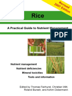 A Practical Guide to Nutrient Management-Rice