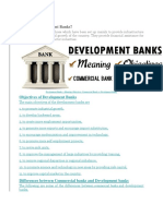 Development Bank vs Commercial Bank