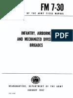 FM7-30 Infantry, Airborne, and Mechanized Division Brigades