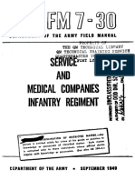 FM7-30 Service and Medical Companies Infantry Regiment