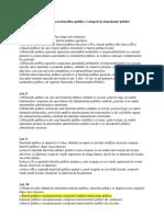 clasificare functii publice