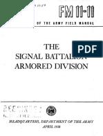 FM11-11 The Signal Battalion Armored Division