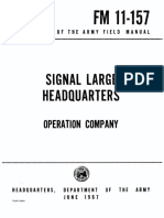 FM11-157 Signal Large Headquarters 1967