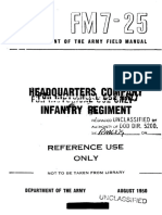 FM7-25 HQ Company Infantry Regiment