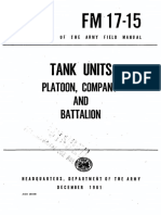 FM17-15 Tank Units Platoon, Company and Battalion 1961