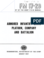 FM17-20 Armored Infantry Units Platoon, Company and Battalion 1957