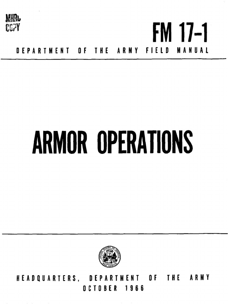 FM17-1 Armor Operations 1966   Infantry   Brigade