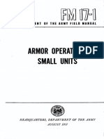 FM17-1 Armor Operations Small Units