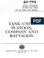 FM17-33 Tank Units Platoon, Company and Battalion 1957