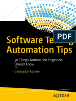 Apress - Software Testing Automation Tips (Alpaev) (2017)